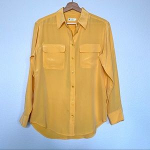 Equipment Silk Shirt Top Marigold Long Sleeve
